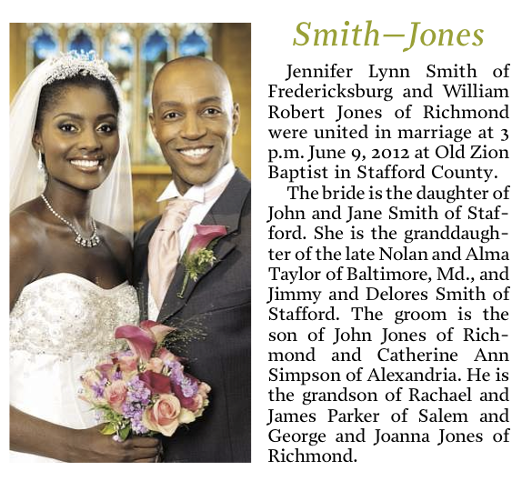 Wedding Announcements Newspaper.Celebration Packages Fredericksburg Com